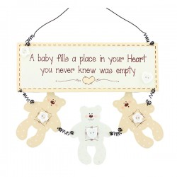 Teddy Saying Plaque For Baby's Room